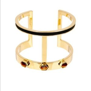 Vince Camuto Jewelry - Vince Camuto Stone/Leather T Bar Cuff Bracelet